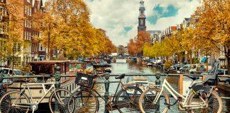holanda - amstel - bici - canal