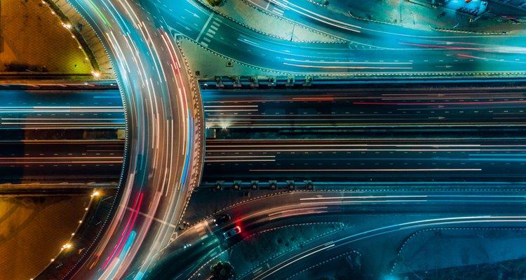 carretera vista superior