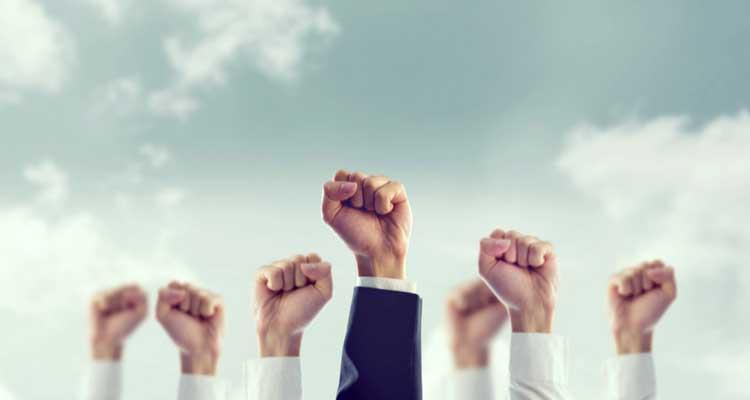 concepto de compañía líder