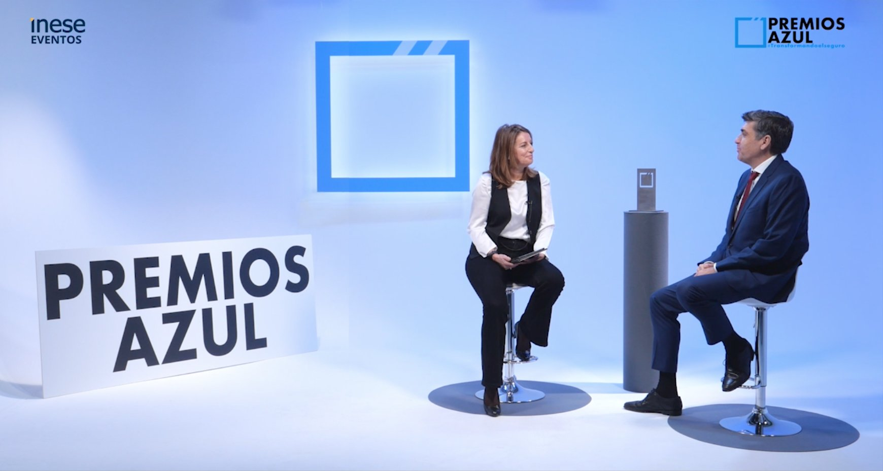 Susana Pérez y Juan Cumbrado en los Premios Azul 2020