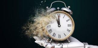 concepto de tiempo IA bot