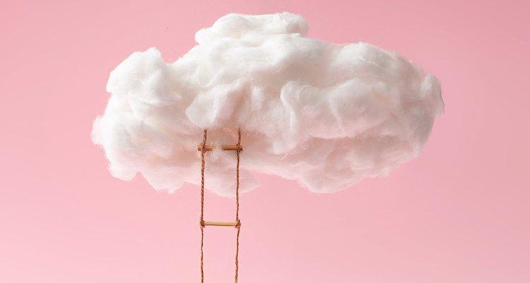 nuble cloud rosa recurso concepto